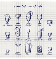Set of popular drinks vector image