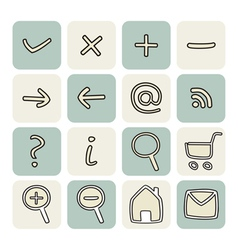Set with doodle hand drawn icons vector