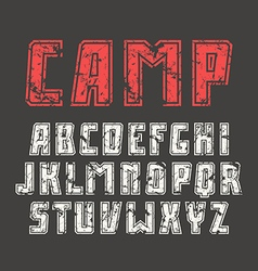 Sanserif font in sport style with contour vector