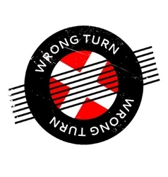Wrong turn rubber stamp vector