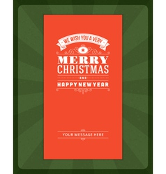 Merry christmas invitation card vector