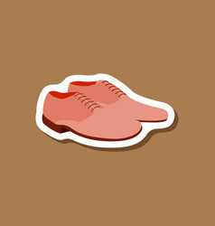 Paper sticker fashion footwear pair of men shoes vector