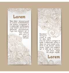 Ornamental banners vertical vector