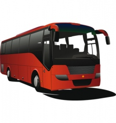 tourist coach vector image