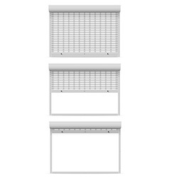 Metal perforated rolling shutters 08 vector