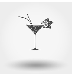 Cocktail with lime and mint vector