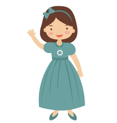 50ies style little girl vector image