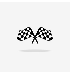 Flag icon checkered or racing flags vector