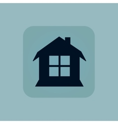 Pale blue house icon vector