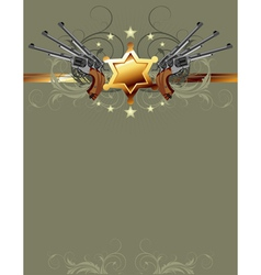 sheriff gun poster vector image
