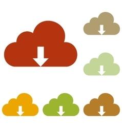 Cloud technology sign vector