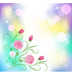 Floral background with boke vector image