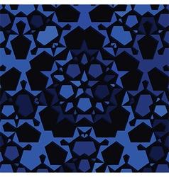 dark blue star background vector image