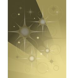 Abstract transparent stars and balls vector