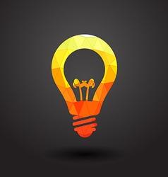 Abstract light bulb vector
