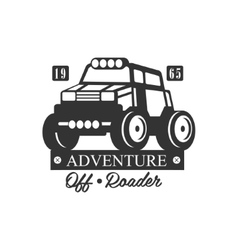 Adventure off-roader extreme club and rental black vector