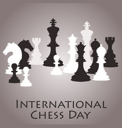 chess background international chess day card vector image vector image