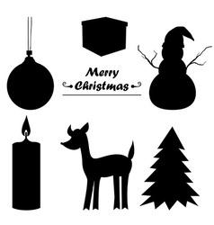 Christmas icon sillhouette vector