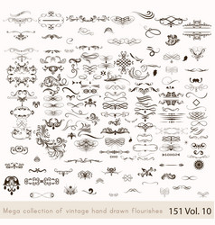 collection or set of vintage styled calligraph vector image vector image