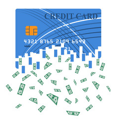 Credit or debit card which is transformed into vector