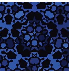 dark blue star background vector image vector image