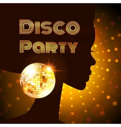 Disco party vector image vector image