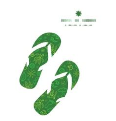 Ecology symbols flip flops silhouettes pattern vector