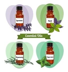 Essential oils set 2 vector