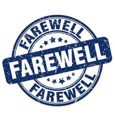 Farewell blue grunge stamp vector