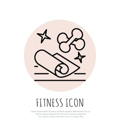 Fitness line art icon for your design vector image vector image