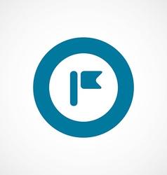 flag bold blue border circle icon vector image