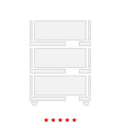 Floor rack for paper it is icon vector