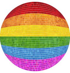 Gay pride Ball in mosaic vector image vector image