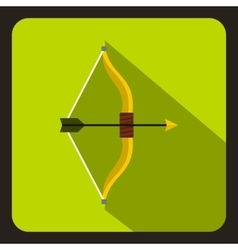 Hunting bow icon flat style vector