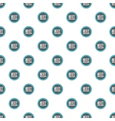 Label best seller pattern cartoon style vector