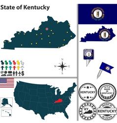 Map of kentucky vector