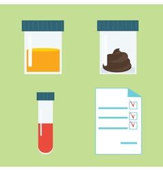 Medical tests set vector image