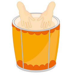 Music instrument drum vector