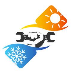 Repair of air conditioner vector
