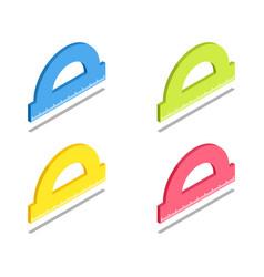 ruler protractor icon symbol vector image