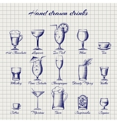 Set of popular drinks vector image vector image