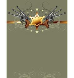 Sheriff gun poster vector