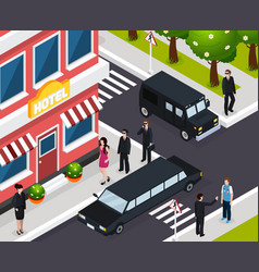 special agent isometric composition vector image vector image