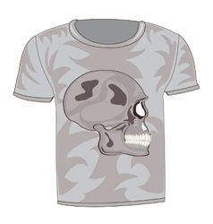 T-shirt with drawing of the skull vector