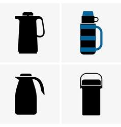 Vacuum flasks vector image vector image
