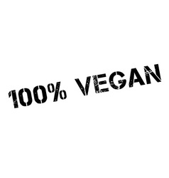 100 percent vegan rubber stamp vector