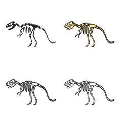 tyrannosaurus rex icon in cartoon style isolated vector image