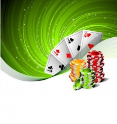 Illustration on a casino theme vector