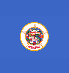 Minnesota state flag vector