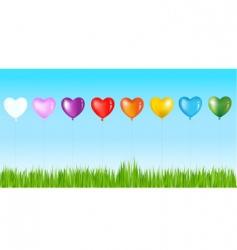 heart- shape balloons vector image